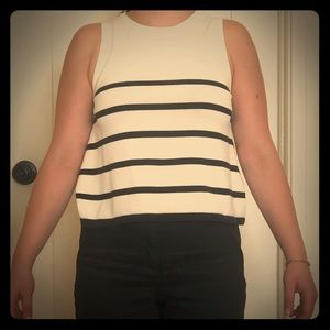 Striped a-line top